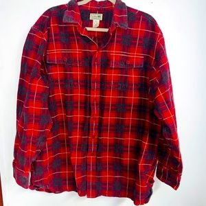 Vintage ll bean flannel shirt xl tall